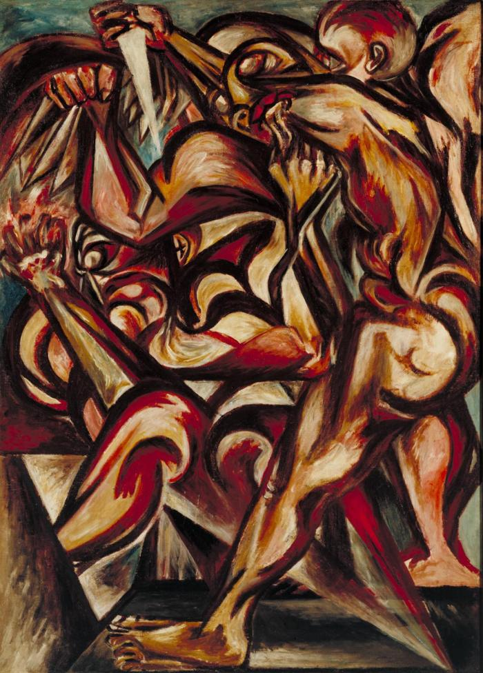 Naked Man with Knife c.1938-40 by Jackson Pollock 1912-1956